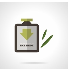 Herbal shampoo flat color design icon vector image