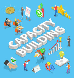 Isometric flat concept capacity building vector