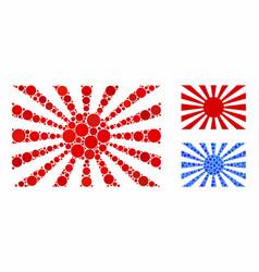 Japanese rising sun composition icon circles vector