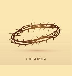 jesus crown thorns vector image