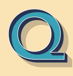 Letter q retro text style fonts concept vector