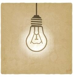 light bulb concept vintage background vector image
