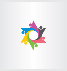 logo people group team symbol element vector image