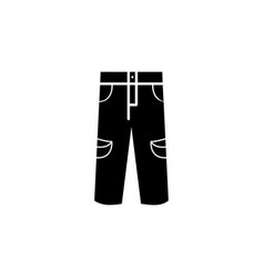 Mens jeans or pants icon vector