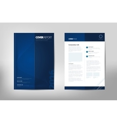 Modern Cover Annual Report Brochure - business vector image