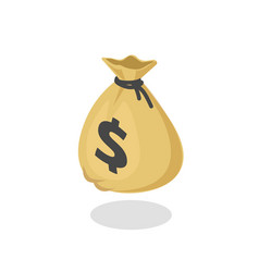 Money bag icon 3d isometric moneybag vector