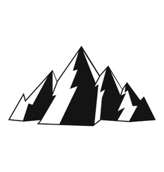 Mountain icon simple style vector