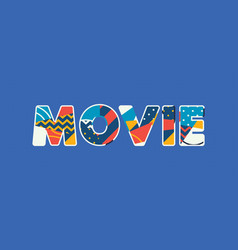 Movie concept word art vector
