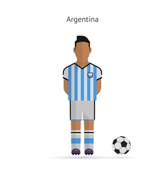 National football player Argentina soccer team vector