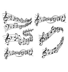 notes music melody colorful musician symbols vector image