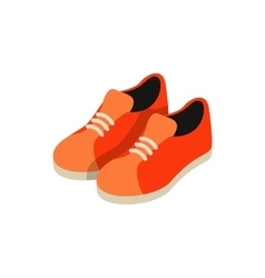 Orange sneakers icon isometric 3d style vector