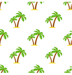 Palm tree pattern seamless texture simple vector
