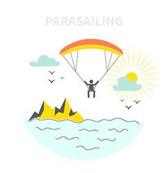 Parasailing Concept vector image