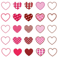 Patterned Hearts and Frames vector