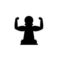 pawn strength icon element of chess for mobile vector image