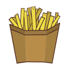 portioned french fries vector image
