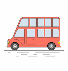 red london bus isolated on white background vector image