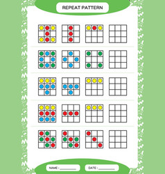 repeat pattern square with colorfull circles vector image