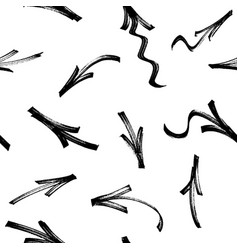 seamless pattern of graffiti arrows drawn by a vector image
