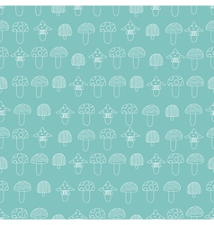 Seamless pattern of mushrooms vector