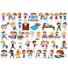 Set doodle character vector