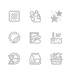 set line icons laundry vector image