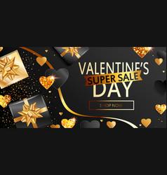 super sale banner for valentines days vector image
