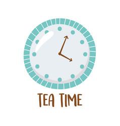 Tea clock time isolated design vector