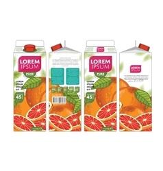 Template Packaging Design Grapefruit Juice vector image