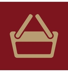 The basket shoping icon Shop Basket symbol Flat vector