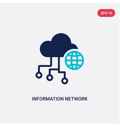 two color information network icon from computer vector image