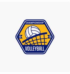 Volleyball club badge logo-2 vector