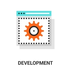 web development icon vector image
