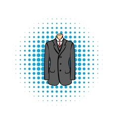 Wedding jacket comic icon vector