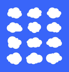 White simple clouds thinking bubbles or tags vector
