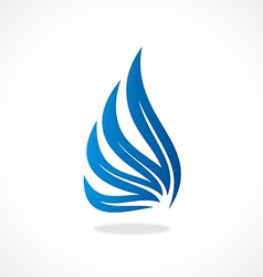 Wing abstract logo vector