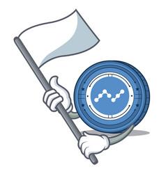 With flag nano coin mascot cartoon vector