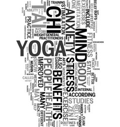 Yoga tai chi and the state of zen text word cloud vector