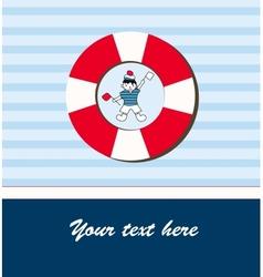Young sailor card vector