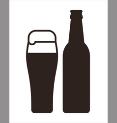 beer mug and bottle vector image