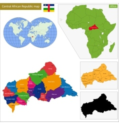 Central African Republic map vector image vector image