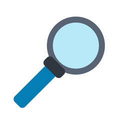 magnifying glass looking for objects vector image