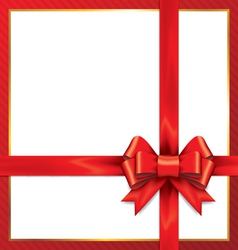 Red gift bows with ribbons vector image