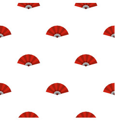 red open hand fan pattern seamless vector image vector image