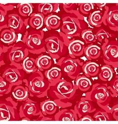 seamless pattern of rosebuds vector image