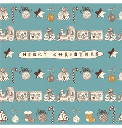 Vintage Christmas Card Pattern vector image