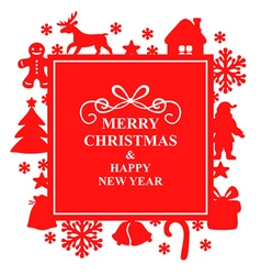 christmas rs red vector image vector image