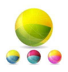 Colorful geometric balls vector image vector image