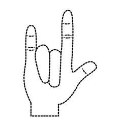 hand in rock n roll sign gesture vector image