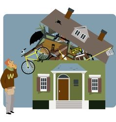 Packing a house vector image vector image